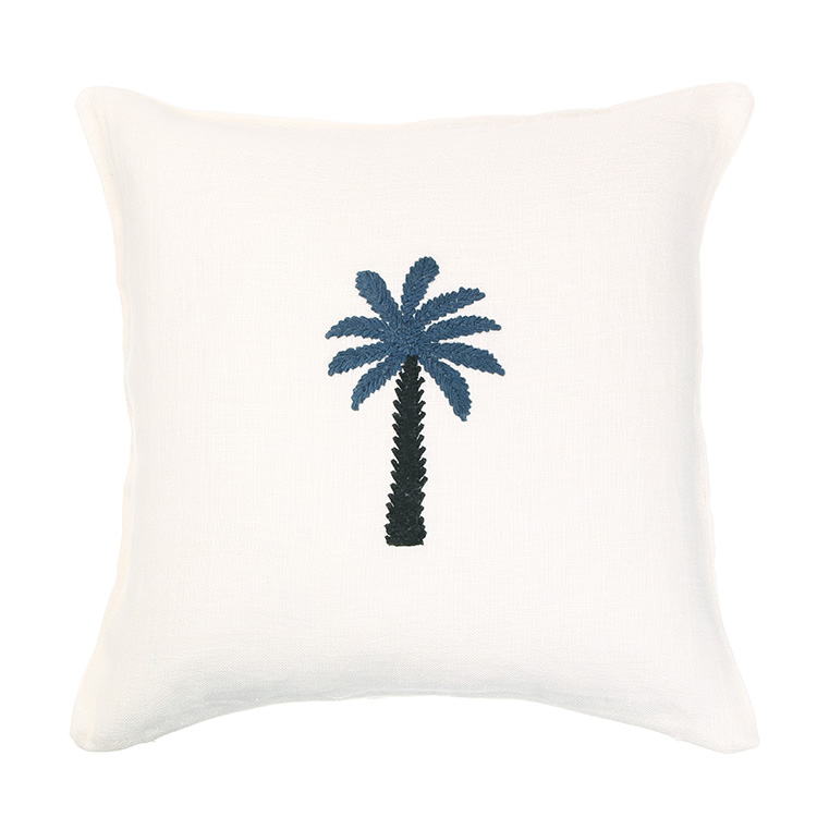 WASHED LINEN CC PALMTREE WH