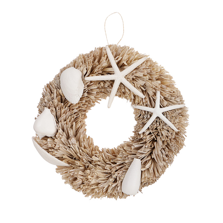WHITE SHELL WREATH 2