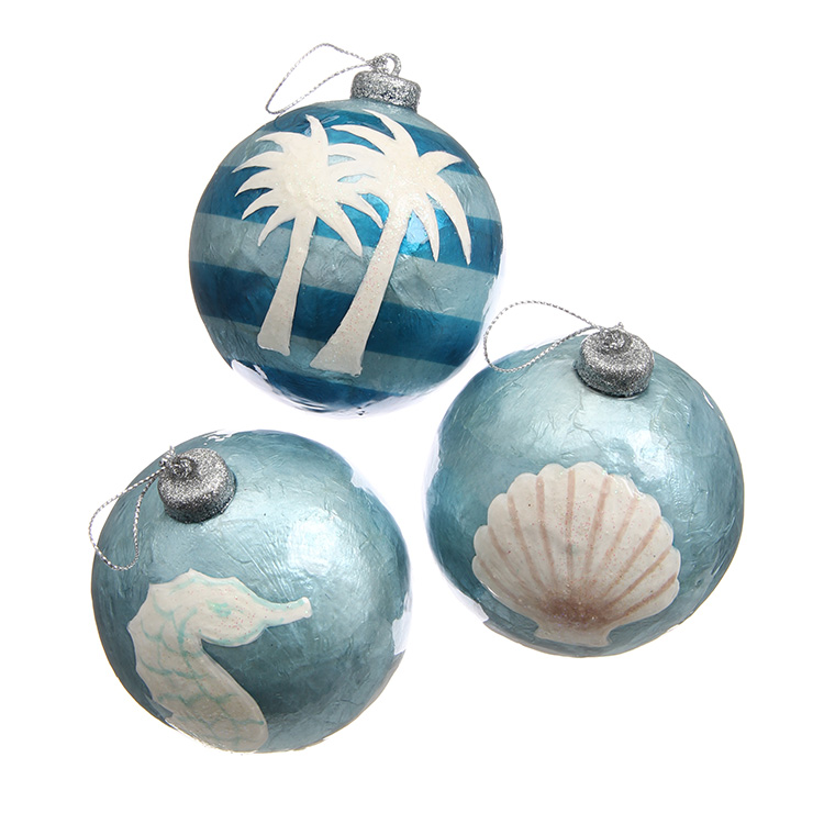 CAPIZ BALL ORNAMENT SET