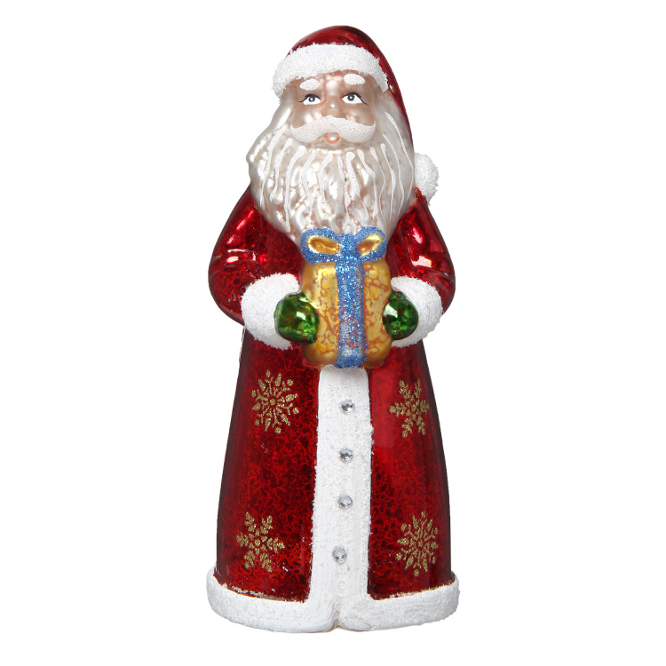 GLASS LED LIGHT SANTA